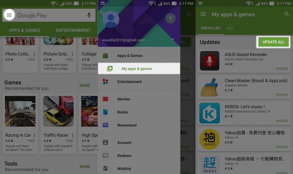 Zenfone google play