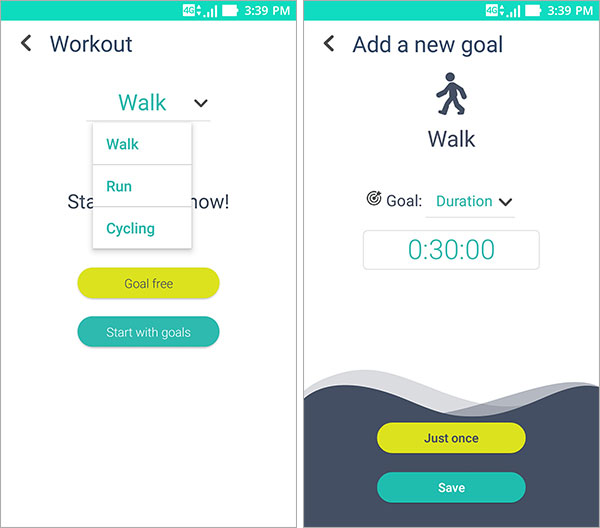 ZenFit application Zenfone suivi sportif