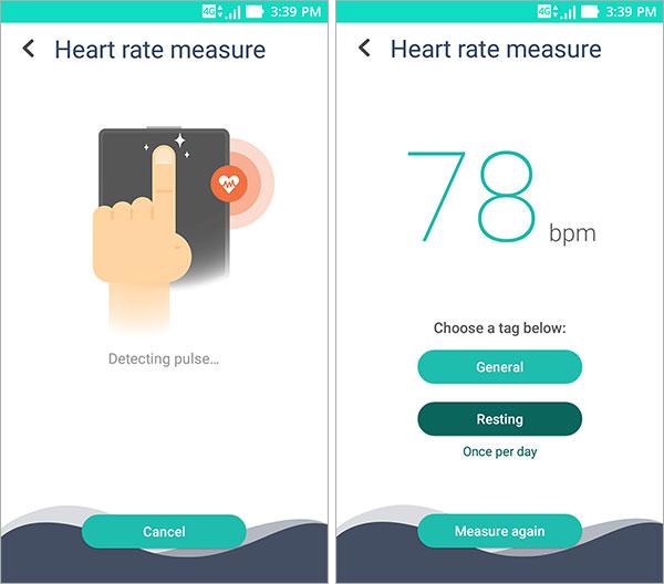 Zenfit mesure de l'activité cardiaque