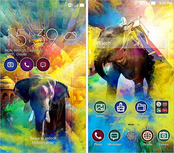 Theme ZenUI Inde les couleurs de Holi
