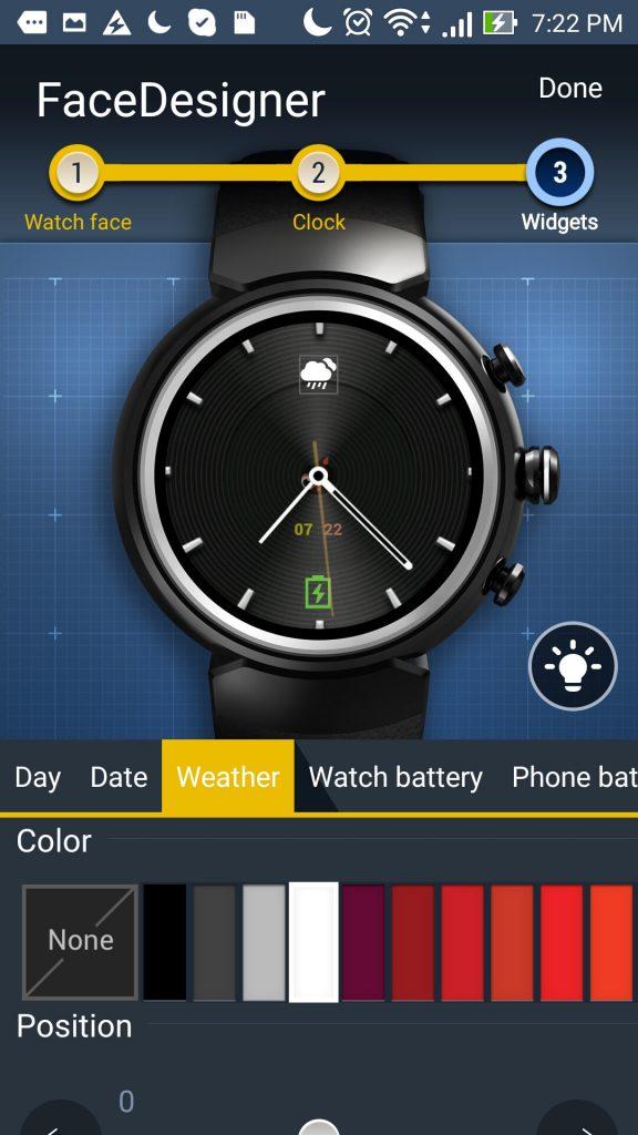 widget Zenwatch 3