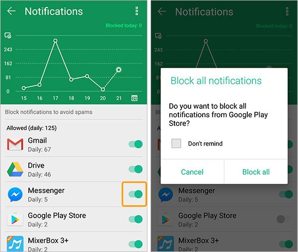 Gérer les notifications Zenfone ASUS