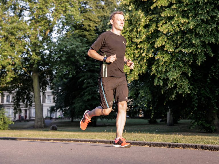Kieran Alger running Zenfone smartphone