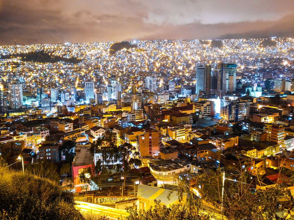 Perspective photo plongée ville